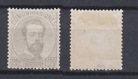 SPAIN 1872 King Amadeo I 20 C grey violet Mint * 183 (Mi.123)
