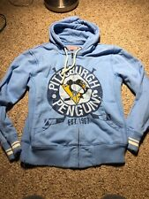 Mitchell and Ness Pittsburgh Penguins Blue Jacket Hoodie FULL ZIP MENS ADULT S