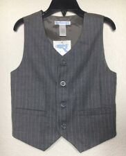 Nwt Janie and Jack Boys Gray Brown Wool Pin Stripe Vest 5T $39
