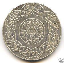 Morocco Abdul Aziz I 5 Dirhams (1/2 Rial) Silver 1316 Paris