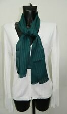 Foulard seta Verde a righe donna Made in Italy OMA06
