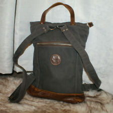 Jimmy N. American Handmade Messenger Shoulder Bag Canvas and Leather Brown