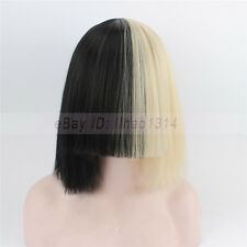 3-7 Day Ship Women's Cosplay Wig with Long Bang Sia Hair Concert Funny Dress HOT