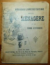 Nouveau livre de cuisine pour la ménagère - Recettes faciles / années 1920