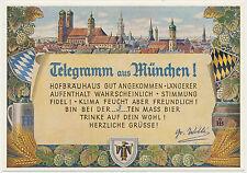 AK Telegramm aus München-Hofbräuhaus  (U907)