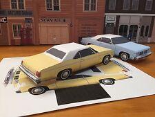Papercraft Oldsmobile Delta 88 Yellow Paper Car E Z U-build 1975 Toy Model Car