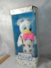 VINTAGE DISNEY BABIES APPLAUSE PLUSH BABY BOTTLE COVER HOLDER DONALD DUCK IN BOX