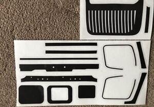 1/14 Tamiya Actros Truck Black Plastic Slt Heavy Window Rubbers Decals