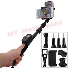 Extendable Monopod+Dual Camera Handle Pole+Phone Holder for GoPro Hero1/2/3/3+/4