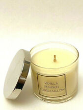 BATH & BODY WORKS SINGLE WICK SCENTED CANDLE VANILLA PUMPKIN MARSHMALLOW 4 OZ