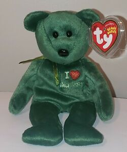 """Ty Beanie Baby - I LOVE NEW JERSEY the Bear (Exclusive) 8.5"""" MINT with MINT TAGS"""