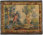 Antique French Aubusson Tapestry Wool & Silk 5'x7' Area Rug 160cm x 193cm 1900