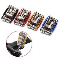 Multi-tool Bicycle Repair Tools Hex Spoke Wrench Screwdriver 10 In 1 Kit Set SP