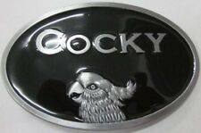 Cocky Black Belt Buckles Hipster Funny TV Party Wear Fancy Costume