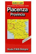 PIACENZA CARTA STRADALE PROVINCIALE 1:100 000 [CARTINA/MAPPA] STUDIO F.M.B.