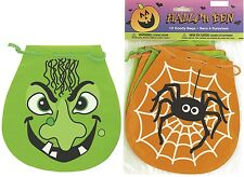 10 Halloween Spooky Party Goody Bags Favour Treat Loot Lolly Bags Spider Monster