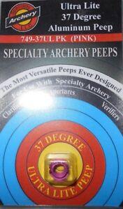 "@NEW@ Specialty Archery Pink 3/16"" Peep Sight! 37 degree ultra lite 749-37UL"