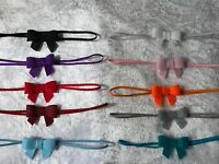 Handmade Tiny Felt Bow Baby Girls Headband Skinny Elastic Newborn Hairband + Lot