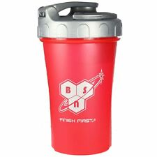 BSN Endo Rush Red Protein Shaker Bottle BPA Free 600ml Capacity Compartment Lid