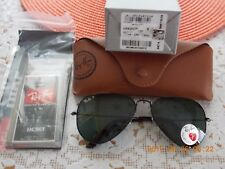 Ray-Ban RB3025 002/58 Aviator Black Frame Polarized Green  Lens [140 mm]