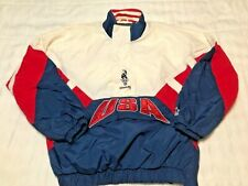 Vintage 1996 Atlanta USA Olympic Games Starter Pullover L Red White Blue Stars
