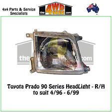 HEADLIGHT suits TOYOTA PRADO 90 SERIES R/H RIGHT DRIVER SIDE 1996-1999 ADR