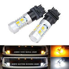 T25 3157 20SMD Dual Color Switchback Turn Signal LED-Light Bulb White/Amber 6500