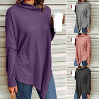 2021 ZANZEA Women Long Sleeve Top Tee Tunic Shirt Cowl Neck Plus Size Blouse