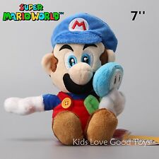 "New Super Mario With ICE Flower Plush Doll Soft Stuffed Animal Toy 7"" Figure"