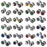 Wholesale Faux Cheater Illusion Ear Plugs Pair with Random Logos No Duplicates