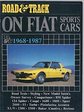Road and Track on Fiat Sports Cars 1968-1987 - R M Clarke Paperback 1st edition