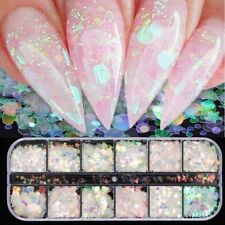 12 Grid/set Nail Art Nail Sequin Crystal Rhinestones Nail Glitter Salon Nail Art