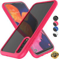 For Samsung Galaxy A50 Phone Case Shockproof Cover+Tempered Glass Screen Film