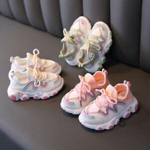 Toddler Kids Baby Girls Boy Summer Soft Splice Mesh Running Sport Shoes Sneaker