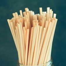 Natural Wheat Drinking Straws  Biodegradable, Eco-Friendly Disposable Straw x100