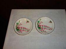 Pair Swinnertons Staffordshire England Luxor Vellum butter jam pin dish pink