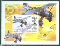 SIERRA  LEONE  IMPERF 80th ANNIVERSARY OF THE RAF S/S  SC#2136   MINT NH
