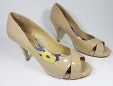 Steve Madden cream patent leather open toe high heel shoes uk 6 eu 39