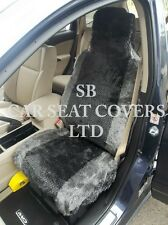 i - TO FIT A SAAB 9000 CAR, SEAT COVERS, GREY DIAMOND FAUX FUR FULL SET