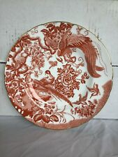 "Royal Crown Derby-Red Aves 10.5"" Dinner Plate"