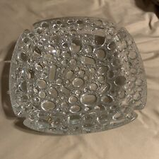 """Bubble Glass Ashtray 8"""" 2.7 pounds of awesome glass No Chips Or Cracks! None"""