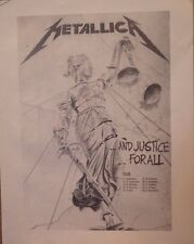 TOUR POSTER~Metallica...And Justice For All w/Dates NOS Vintage UK Import Rare~