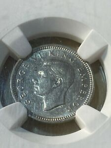 1941 New Zealand 3 Pence Graded AU58 by NGC!!!