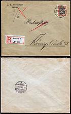 DR 89 I, 30 Pf. Germania auf R-Postauftrag Bautzen 30.5.05