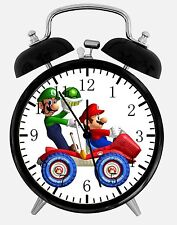 "Super Mario Luigi Alarm Desk Clock 3.75"" Room Decor X33 Nice for Gifts Wake Up"
