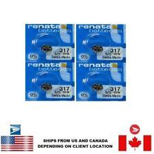 Mercury Sr516Sw Swiss Made Us Seller 4 Pcs Renata 317 Watch Batteries 0%