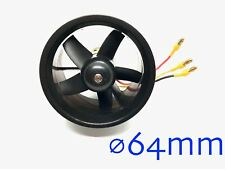 """1set ⌀64mm 2.5"""" Electric Fan Duct Unit with Motor for RC Models US SELLER & SHIP"""