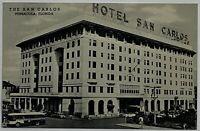 Old VTG Linen Era Postcard Hotel San Carlos Pensacola, Florida