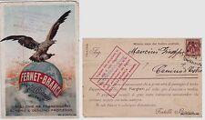 # pubblicitaria FERNET BRANCA  1901 - AVVISO DI PASSAGGIO  A CANINO DI CASTRO