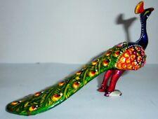 Decorative Handpainted Peacock Figurine Statue Metal Sculpture Christmas Gift